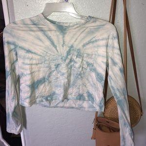 Multicolor long sleeve crop top